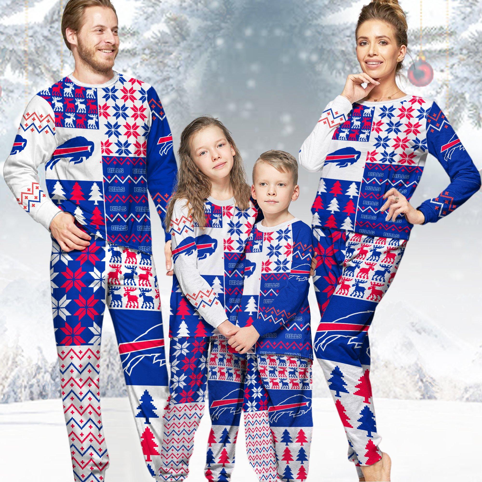 Buffalo Bills NFL Family Holiday Pajamas