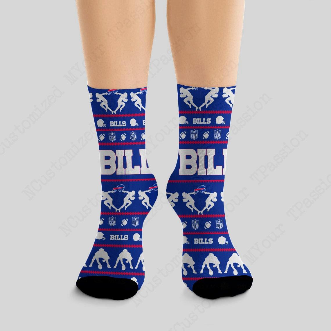 Buffalo Bills Socks Matching Clothes, Buffalo Bills Socks