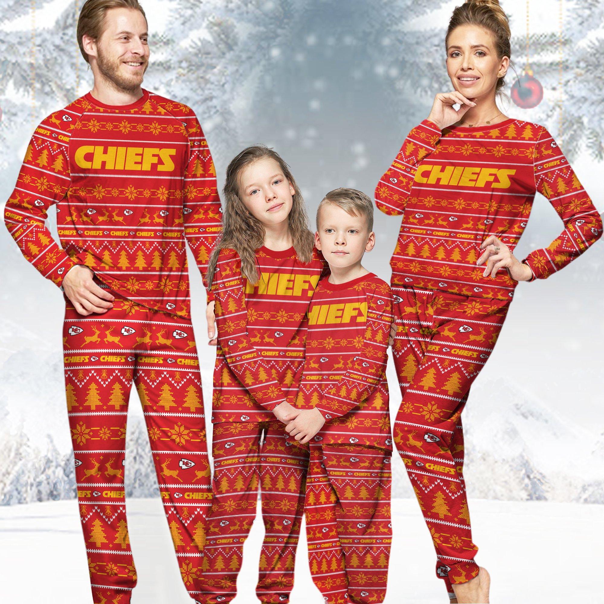 Kansas City Chiefs NFL Family Holiday Pajamas