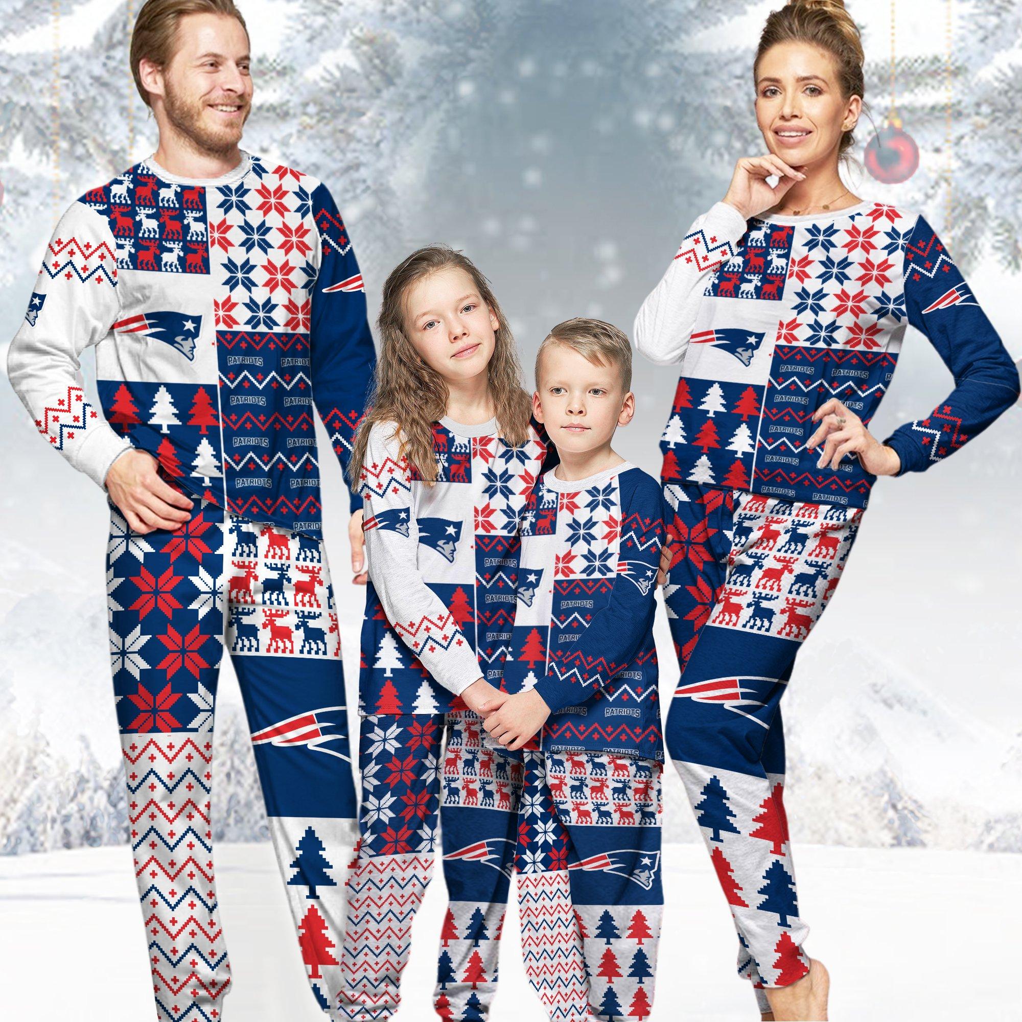 New England Patriots NFL Family Holiday Pajamas