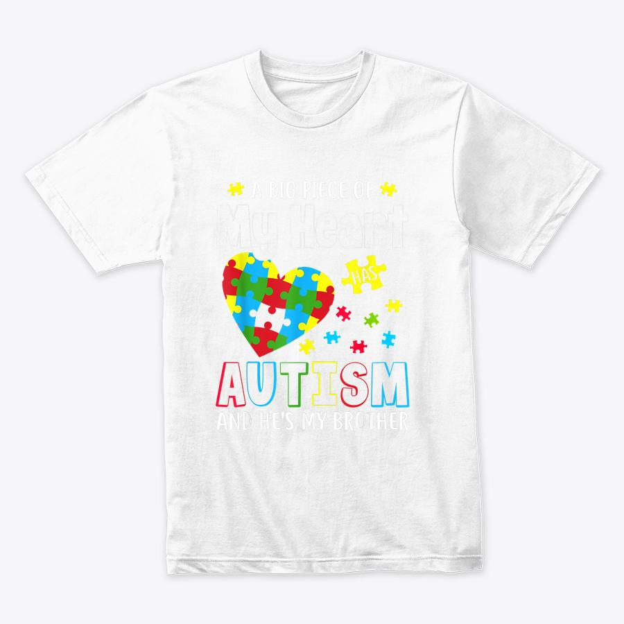 A Big Piece Of My Heart Has Autism And Hes Brother T-Shirt (1)